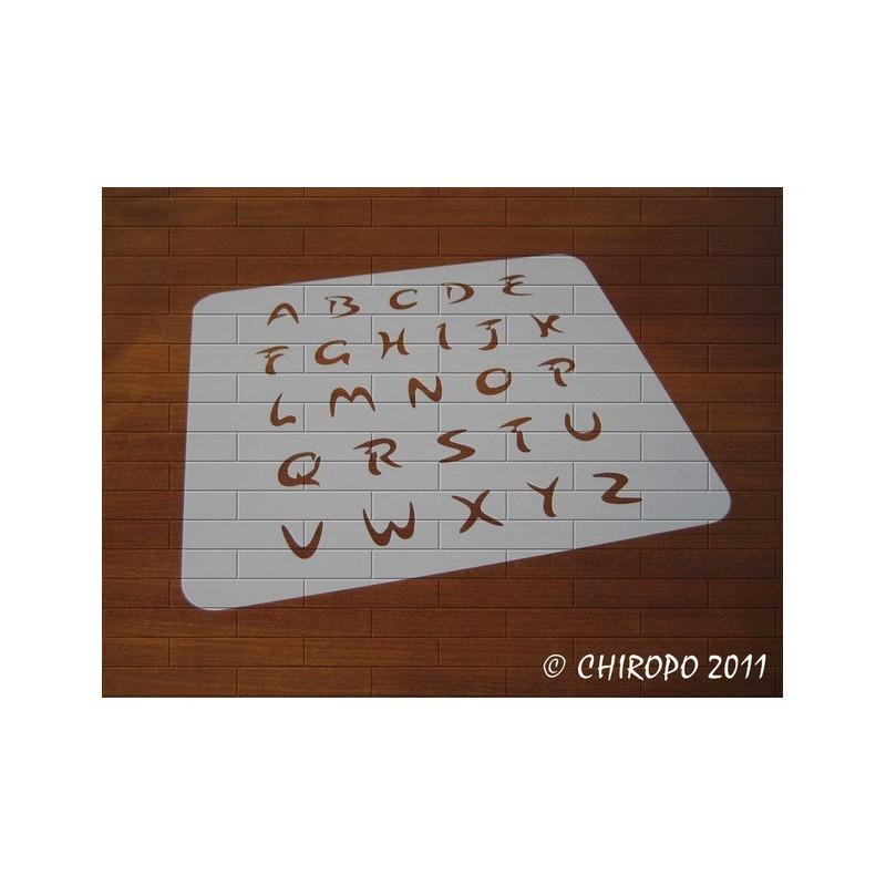 Pochoir alphabet - Arabo majuscule - 2cm (0216)