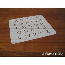 Pochoir alphabet 2 cm - Arial majuscule