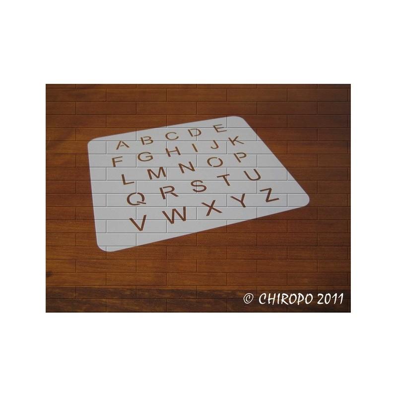 Pochoir alphabet - Arial majuscule - 2cm (0647)