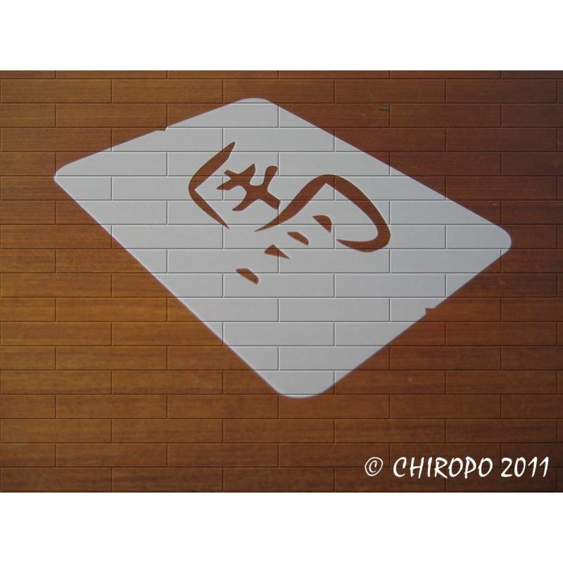 Pochoir astrologie chinoise - Singe du Cheval 02481