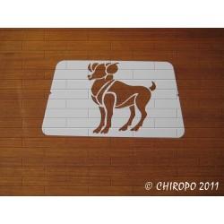 Pochoir zodiaque - Signe Bélier (02961)