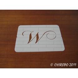 Pochoir Monogramme Chopin - Lettre W en 5cm (0649)