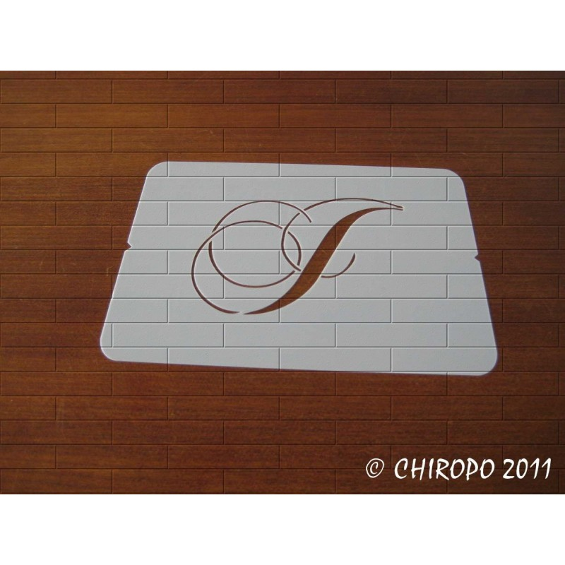 Pochoir Monogramme Chopin - Lettre J en 5cm (0649)