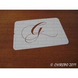 Pochoir Monogramme Chopin - Lettre G en 5cm (0649)