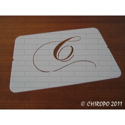 Pochoir Monogramme Chopin - Lettre C en 5cm (0649)
