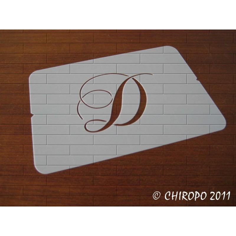 Pochoir Monogramme Chopin - Lettre D en 5cm (0649)