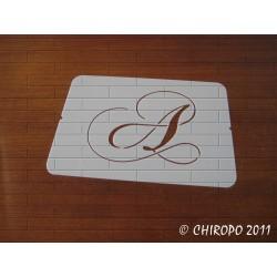 Pochoir Monogramme Chopin - Lettre A en 5cm (0649)