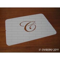 Pochoir Monogramme Script - Lettre N en 5cm (0634)