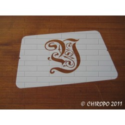 Pochoir Monogramme Gothic - Lettre Y en 7cm (0652)