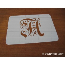 Pochoir Monogramme Gothic - Lettre A en 7cm (0652)