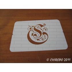 Pochoir Monogramme Gothic - Lettre C en 7cm (0652)