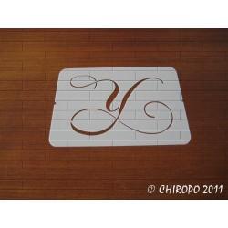 Pochoir Monogramme Chopin - Lettre Y en 5cm (0649)
