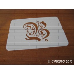 Pochoir Monogramme Gothic - Lettre B en 7cm (0652)