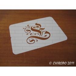 Pochoir Monogramme Gothic - Lettre E en 7cm (0652)