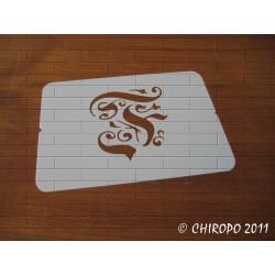 Pochoir Monogramme Gothic - Lettre F en 7cm (0652)