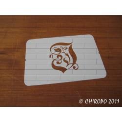 Pochoir Monogramme Gothic - Lettre I en 7cm (0652)
