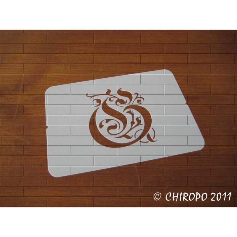 Pochoir Monogramme Gothic - Lettre G en 7cm (0652)