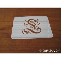 Pochoir Monogramme Gothic - Lettre L en 7cm (0652)