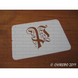 Pochoir Monogramme Gothic - Lettre P en 7cm (0652)