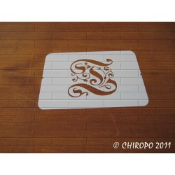 Pochoir Monogramme Gothic - Lettre T en 7cm (0652)
