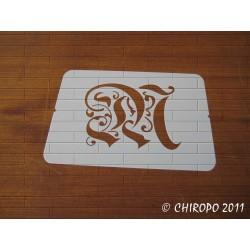 Pochoir Monogramme Gothic - Lettre M en 7cm (0652)