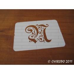 Pochoir Monogramme Gothic - Lettre N en 7cm (0652)