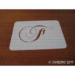 Pochoir Monogramme Chopin - Lettre F en 5cm (0649)