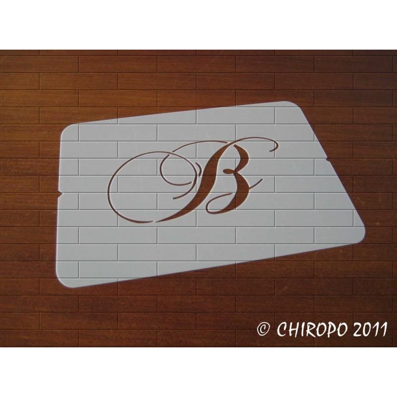 Pochoir Monogramme Chopin - Lettre B en 5cm (0649)