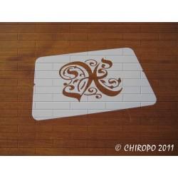 Pochoir Monogramme Gothic - Lettre X en 7cm (0652)