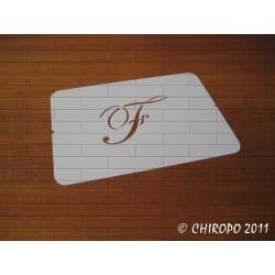 Pochoir Monogramme Script - Lettre F en 5cm (0634)