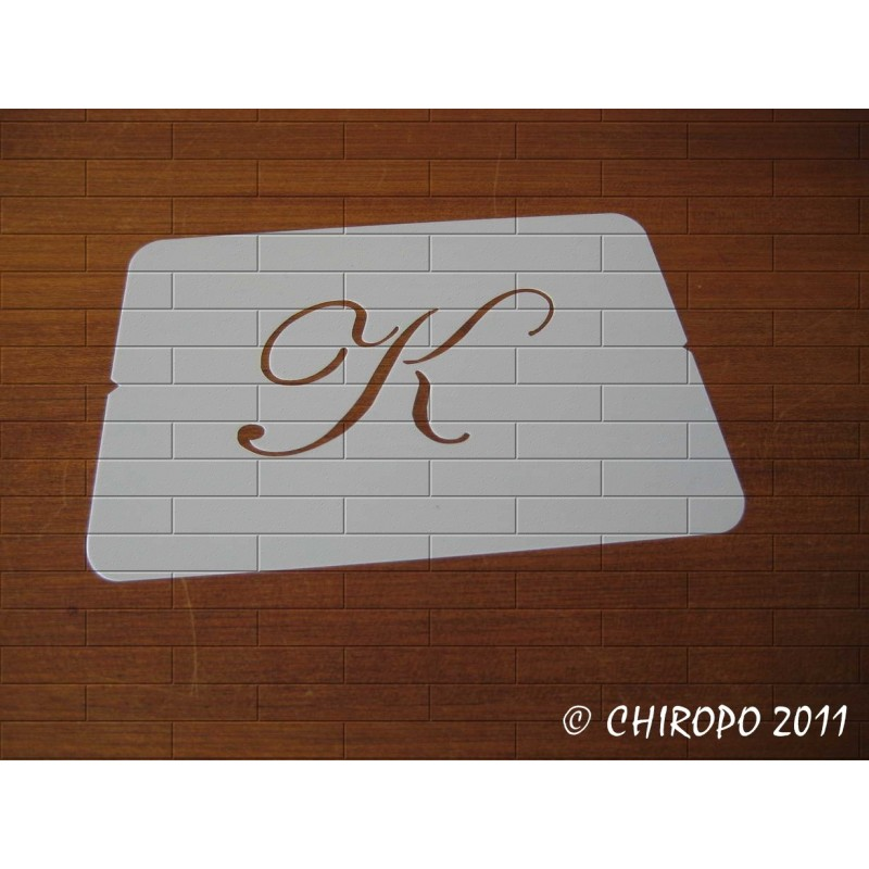 Pochoir Monogramme Script - Lettre K en 5cm (0634)