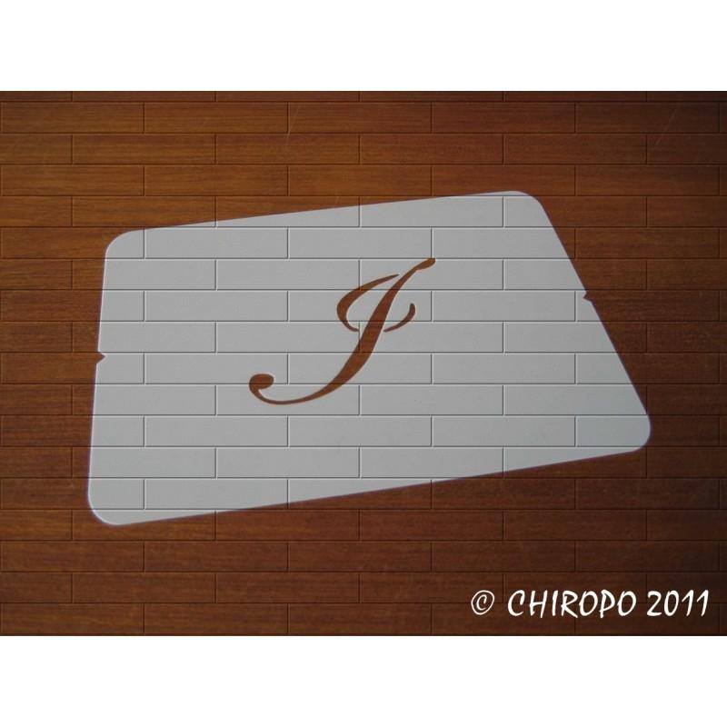Pochoir Monogramme Script - Lettre J en 5cm (0634)