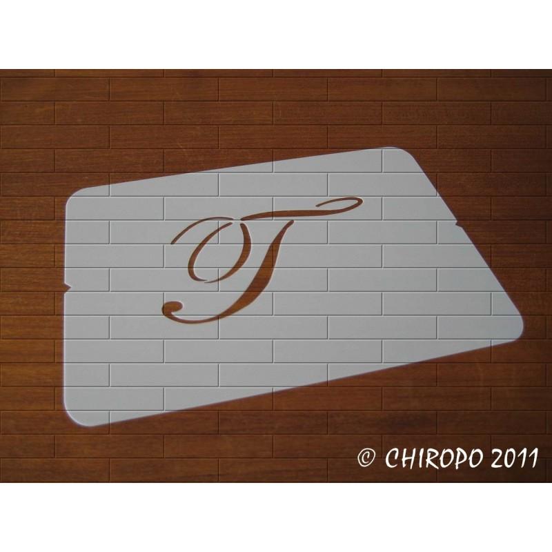 Pochoir Monogramme Script - Lettre T en 5cm (0634)