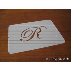 Pochoir Monogramme Script - Lettre R en 5cm (0634)