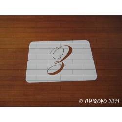 Pochoir Monogramme Chopin - Lettre Z en 5cm (0649)