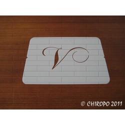 Pochoir Monogramme Chopin - Lettre V en 5cm (0649)