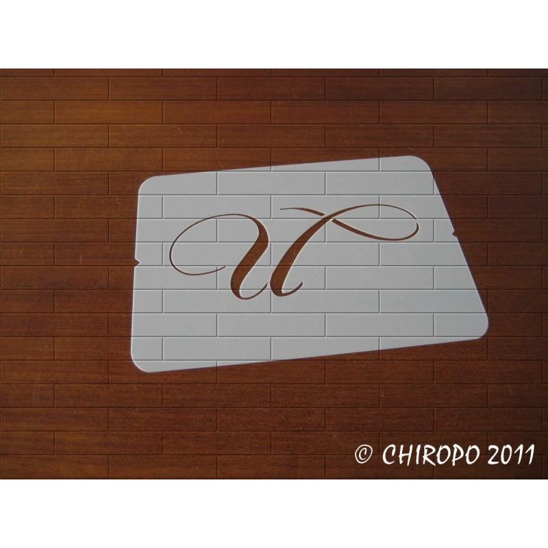 Pochoir Monogramme Chopin - Lettre U en 5cm (0649)