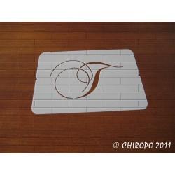 Pochoir Monogramme Chopin - Lettre T en 5cm (0649)