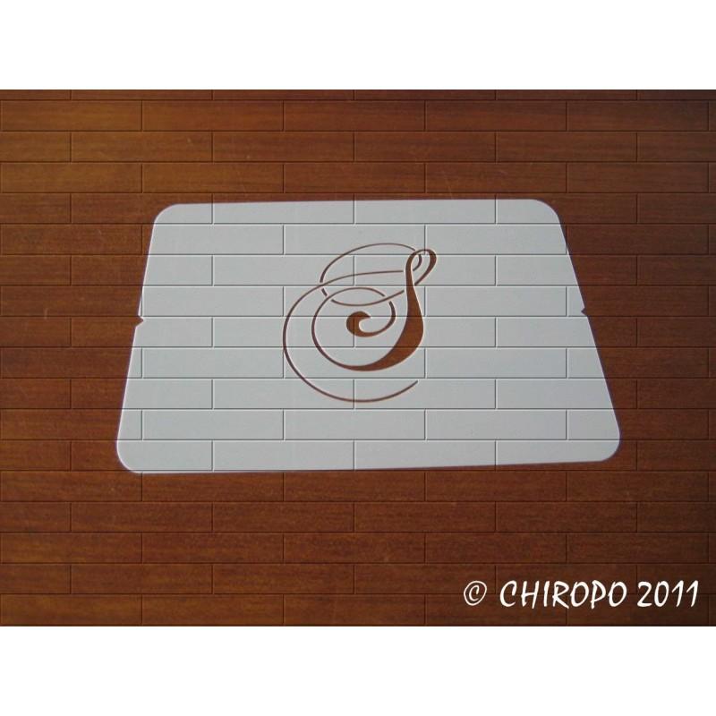 Pochoir Monogramme Chopin - Lettre S en 5cm (0649)