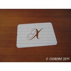Pochoir Monogramme Chopin - Lettre X en 5cm (0649)