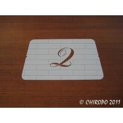 Pochoir Monogramme Chopin - Lettre Q en 5cm (0649)