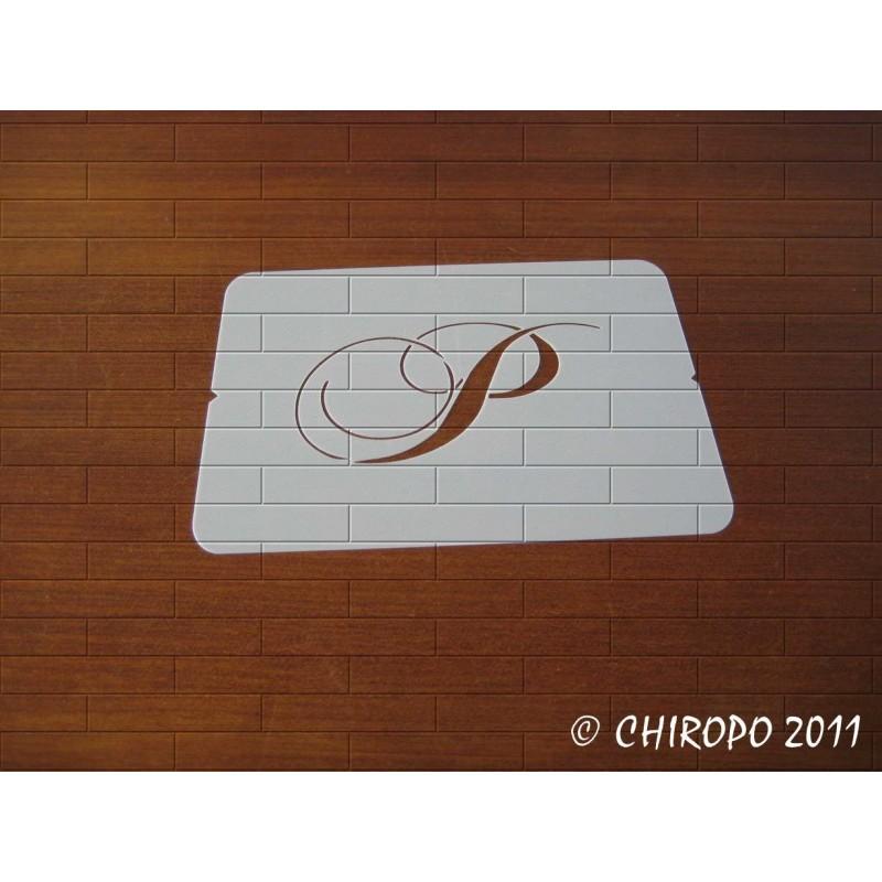 Pochoir Monogramme Chopin - Lettre P en 5cm (0649)