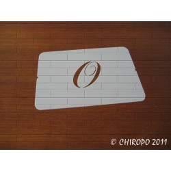 Pochoir Monogramme Chopin - Lettre O en 5cm (0649)
