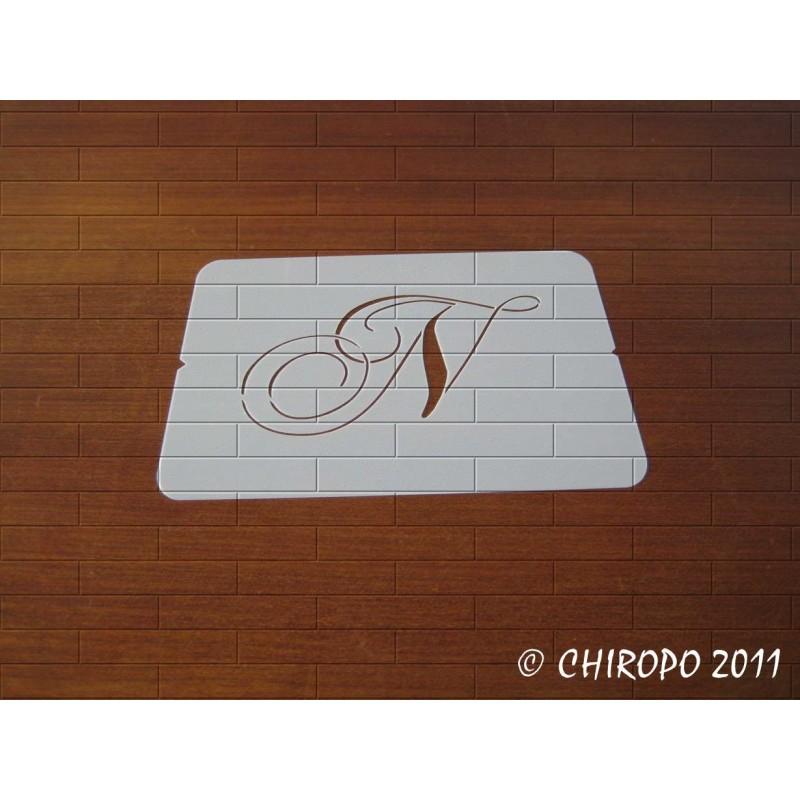 Pochoir Monogramme Chopin - Lettre N en 5cm (0649)