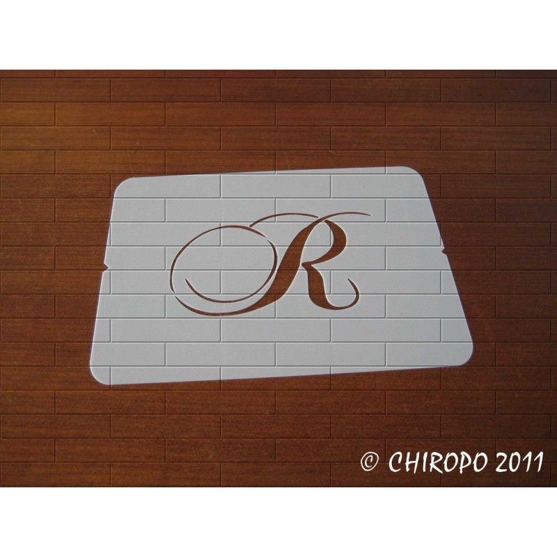 Pochoir Monogramme Chopin - Lettre R en 5cm (0649)