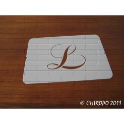 Pochoir Monogramme Chopin - Lettre L en 5cm (0649)