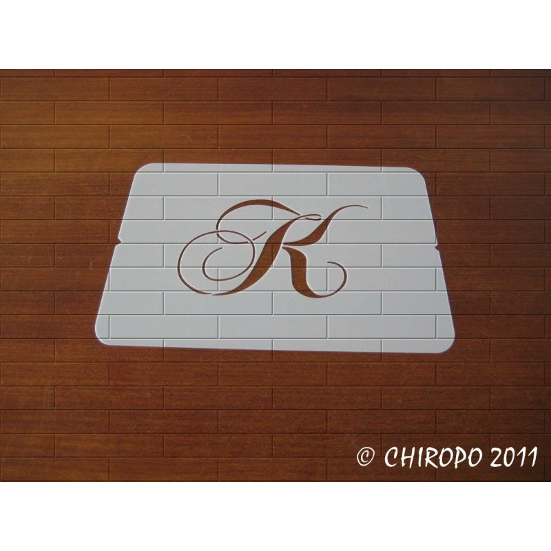 Pochoir Monogramme Chopin - Lettre K en 5cm (0649)