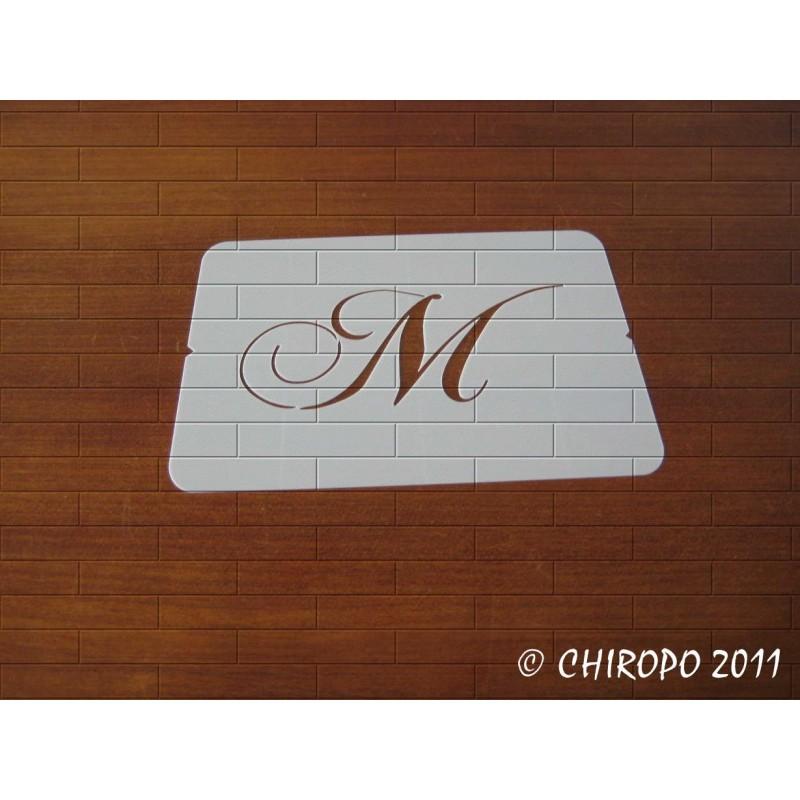 Pochoir Monogramme Chopin - Lettre M en 5cm (0649)