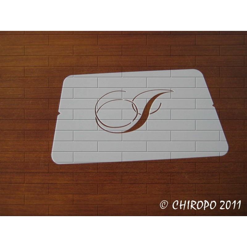 Pochoir Monogramme Chopin - Lettre I en 5cm (0649)