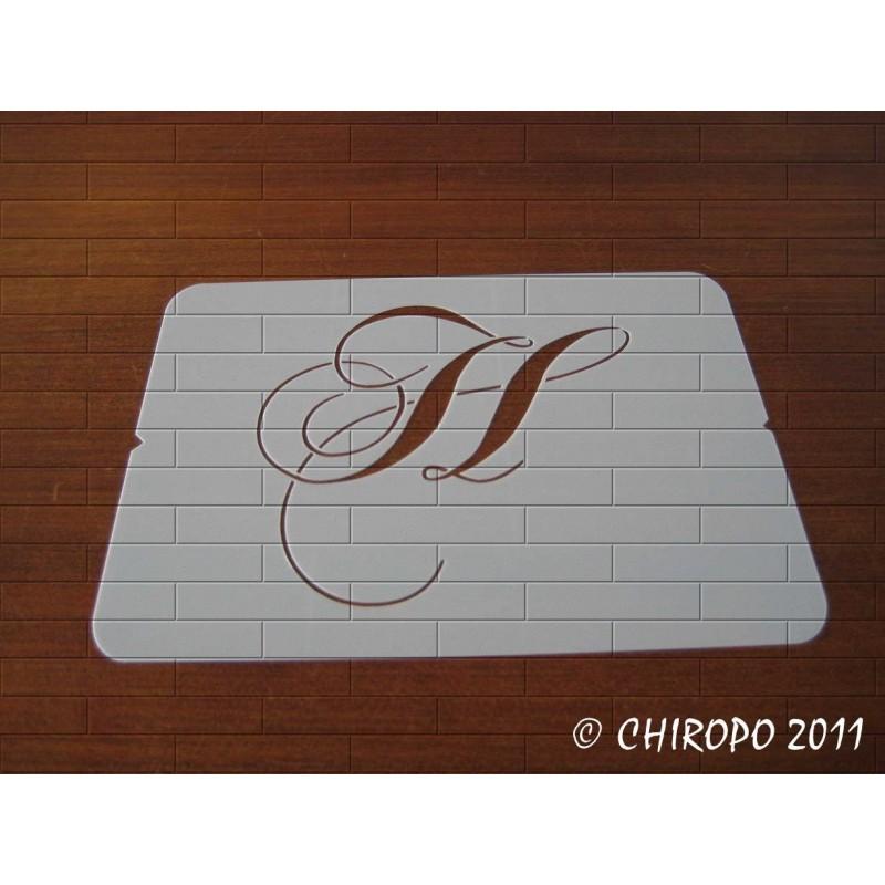 Pochoir Monogramme Chopin - Lettre H en 5cm (0649)